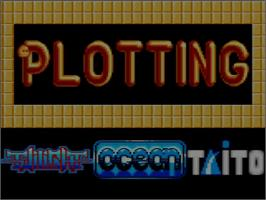 Title screen of Plotting on the Amstrad GX4000.