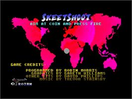 Title screen of Skeet Shoot on the Amstrad GX4000.