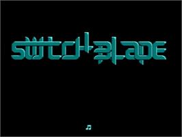 Title screen of Switchblade on the Amstrad GX4000.