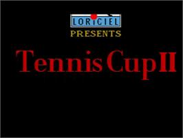 Title screen of Tennis Cup II on the Amstrad GX4000.