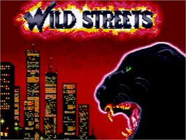 Title screen of Wild Streets on the Amstrad GX4000.