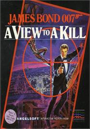Box cover for 007: A View to a Kill on the Apple II.