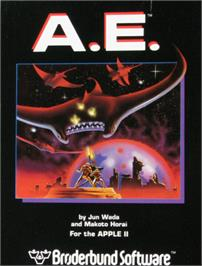 Box cover for A.E. on the Apple II.