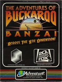Box cover for Adventures of Buckaroo Banzai Across the Eighth Dimension on the Apple II.