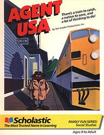 Box cover for Agent USA on the Apple II.
