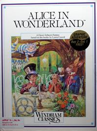 Box cover for Alice in Wonderland on the Apple II.