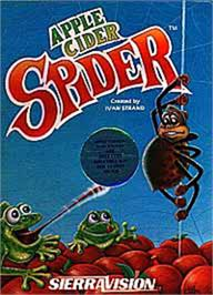 Box cover for Apple Cider Spider on the Apple II.
