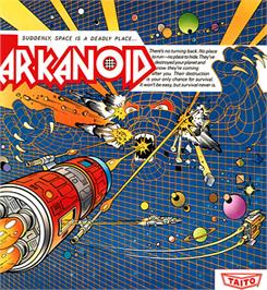 Box cover for Arkanoid on the Apple II.