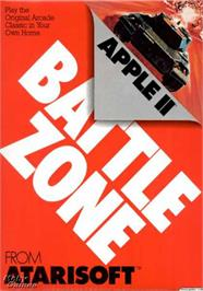 Box cover for Battle Zone on the Apple II.