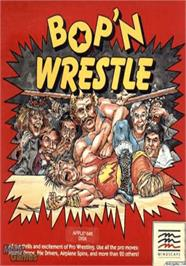 Box cover for Bop 'n Wrestle on the Apple II.