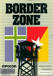 Box cover for Border Zone on the Apple II.
