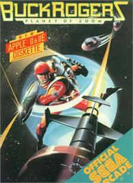 Box cover for Buck Rogers: Planet of Zoom on the Apple II.
