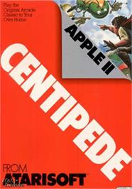 Box cover for Centipede on the Apple II.