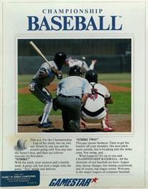 Box cover for Championship Baseball on the Apple II.