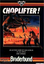 Box cover for Choplifter on the Apple II.