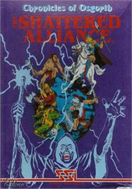 Box cover for Chronicles of Osgorth: The Shattered Alliance on the Apple II.