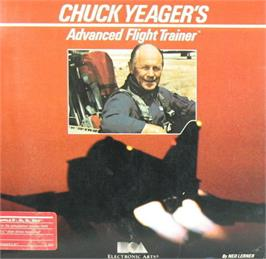 Box cover for Chuck Yeager's Advanced Flight Trainer on the Apple II.