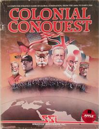Box cover for Colonial Conquest on the Apple II.
