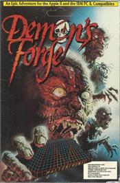 Box cover for Demon's Forge on the Apple II.