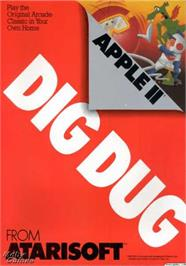 Box cover for Dig Dug on the Apple II.