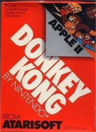 Box cover for Donkey Kong on the Apple II.