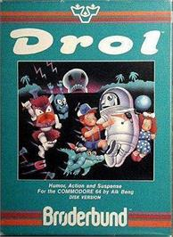 Box cover for Drol on the Apple II.
