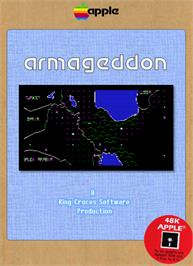 Box cover for Empire III: Armageddon on the Apple II.