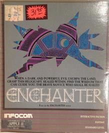 Box cover for Enchanter Trilogy on the Apple II.