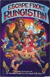 Box cover for Escape from Rungistan on the Apple II.