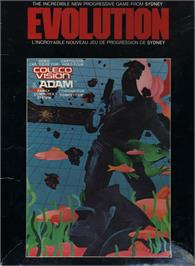 Box cover for Evolution on the Apple II.