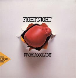 Box cover for Fight Night on the Apple II.