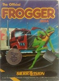 Box cover for Frogger on the Apple II.