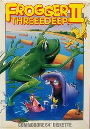 Box cover for Frogger 2: Three Deep on the Apple II.
