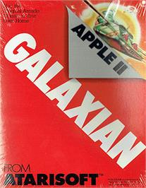 Box cover for Galaxian on the Apple II.