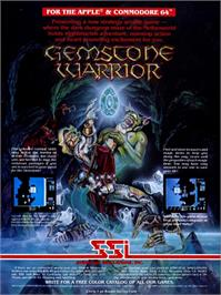 Box cover for Gemstone Warrior on the Apple II.
