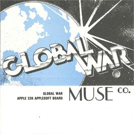 Box cover for Global War on the Apple II.