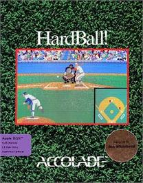 Box cover for HardBall on the Apple II.