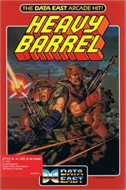 Box cover for Heavy Barrel on the Apple II.