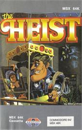 Box cover for Heist on the Apple II.