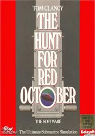 Box cover for Hunt for Red October on the Apple II.