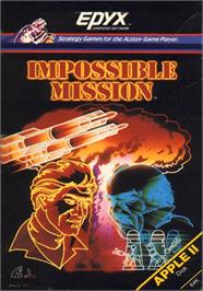 Box cover for Impossible Mission on the Apple II.