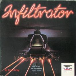 Box cover for Infiltrator on the Apple II.