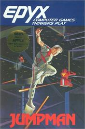 Box cover for Jumpman on the Apple II.