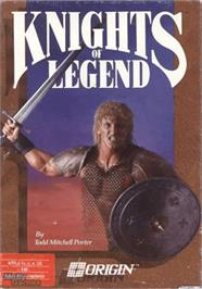 Box cover for Knights of Legend on the Apple II.