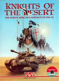 Box cover for Knights of the Desert: The North African Campaign of 1941-1943 on the Apple II.