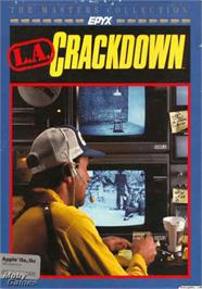 Box cover for LA Crackdown on the Apple II.