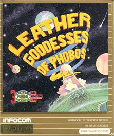 Box cover for Leather Goddesses of Phobos on the Apple II.