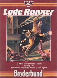 Box cover for Lode Runner on the Apple II.