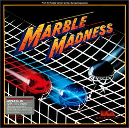 Box cover for Marble Madness on the Apple II.