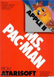 Box cover for Ms. Pac-Man on the Apple II.